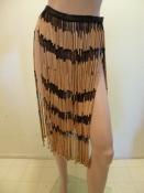 Vintage Beaded Skirt Festival Wear, Tikki Party