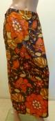 Vintage Floral Print Maxi Skirt Festival Wear