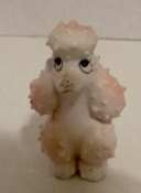 Vintage Plastic Poodle Pencil Topper