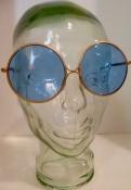 Vintage Round Blue 60s Sunglasses John Lennon or Janis Joplin Style