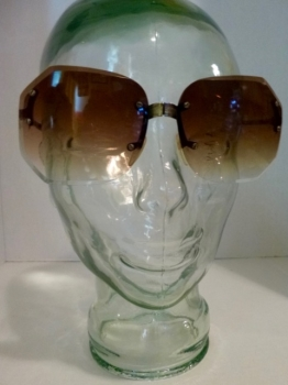 Fully Collapsible Vintage 70s Folding Sunglasses