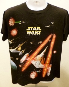 Star Wars Episode One T-Shirt Two Sided LG