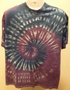 Purple and Blue Spiral Tie Dye T- Shirt $16
