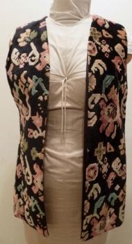 Alladin Multicolor Tapestry Vest 1960s Vintage