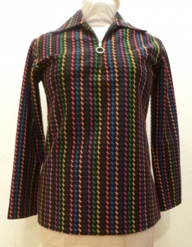 60s Polyester Color Embroidery Shirt