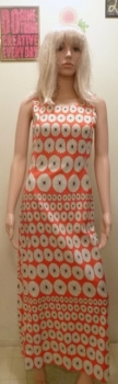 60s Dress Orange Daisy Flower