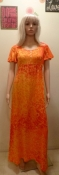 70s Orange Maxi Dress