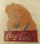 Alice in Wonderland Collectible Pin Coca Cola Disney