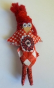 Fashion Magnet Doll - 80s Inspired Red Head