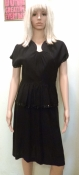 1940s Little Black Sequin Trimmed Dress