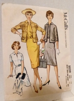 McCall's 5029 Sewing Pattern 1959 Dress and Jacket Size 14 Bust 34