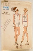 Vogue 8029 Tennis Outfit Size 14 Bust 36 Hips 38