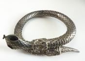 70s Snake Arm Bracelet Silver Metal