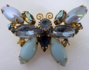 50s Butterfly Rhinestone Pin