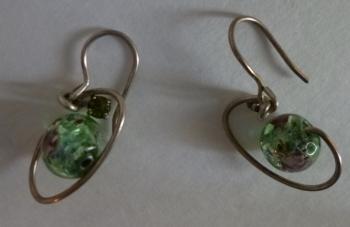 Small Planetary 70s Bead Earrings