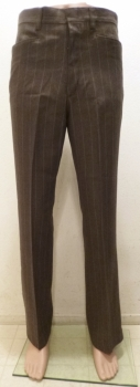True Vintage Dark Grayish Brown Wide Pinstripe Flare Slacks Men's Vintage Pants NWT