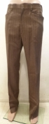 Men's True Vintage Pinstripe Flares Slacks Pants Light Brown