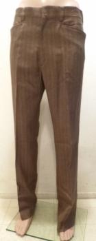Men's True Vintage Pinstripe Flares Slacks Pants Light Brown