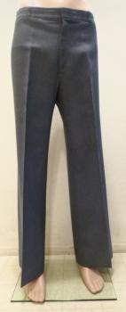 Angels Flight 70s Mens Disco Pants Blue Waist 34 Legs 31
