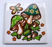 70s Mushroom Trivet