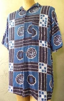Men's Batik Style Rayon 80s Shirt