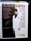 Scarface Movie Poster Promo Al Pacino Autograph