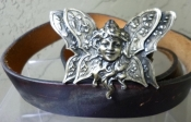 Vintage Butterfly Fairy Belt Buckle