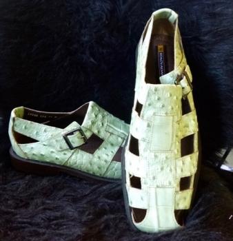Green Mock Crock Stacey Adams Genuine Leather Open Weave Shoes