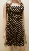 NEW Gold Polka Dot Cocktail Mini Dress - Bust 34 inches SM
