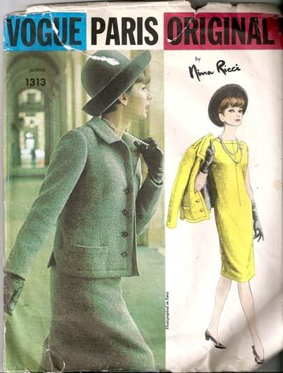 Vogue Paris Original By Nina Ricci 1313 Bust 34 Dress And Jacket
