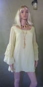 Mello Yellow 60s Mini Dress - Hand Crafted by Home Seamstress Size Small/Petite
