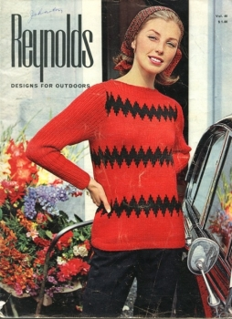 Reynold's Designs for Outdoors -Knitted Sweater Instructional Pattern Book Vol 46