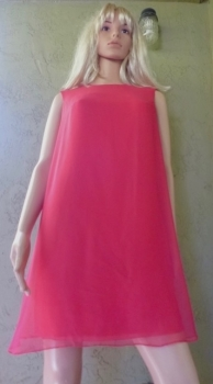 Red Mini Dress 60s True Vintage - Miss Theme Original, New York