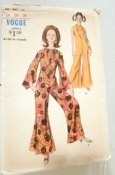 Vogue 7031 Jumpsuit Sewing Pattern 1960s Vintage