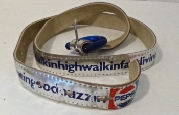 Late 70s Early 80s Vintage Pepsi Advertising Belt
